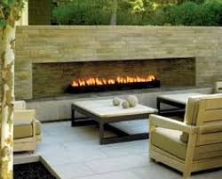 picture of outdoor gas fireplace