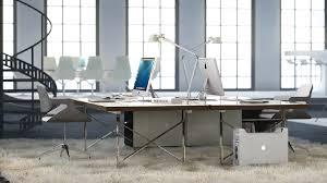 office shag. white office space shag pile carpet interior design ideas