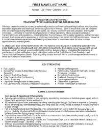 Service Coordinator Resumes Transportation Coordinator Resume Sample Template