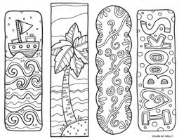 I just love a pretty bookmark to use when i'm reading a book. Bookmarks To Color Classroom Doodles