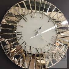 cool idea mirror wall clock classic mirrored 60x60 round house of sparkles pre order furniture sparkle