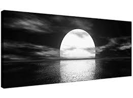 wallfillers modern black and white canvas wall art of a tropical ocean sunset sea canvas on amazon uk black and white wall art with wallfillers modern black and white canvas wall art of a tropical