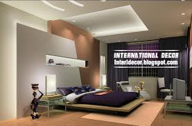 Modern Pop False Ceiling Designs Bedroom Interior Gypsum