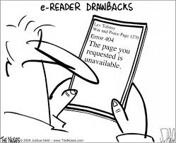 ereader drawbacks cartoon