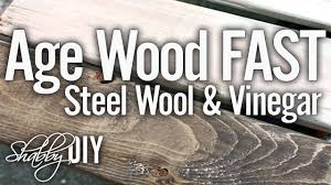 Grey Wash Wood Stain Age Wood In Minutes With Vinegar And Steel Wool Stain Solution