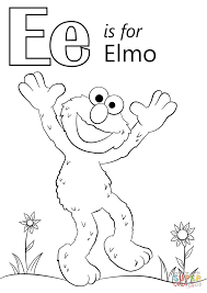 Small Picture Letter E is for Elmo coloring page Free Printable Coloring Pages