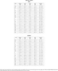Scubapro Bcd Size Chart Scuba Pro Size Chart Anchor Dmc