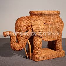 mesmerizing natural rattan furniture with impressive Baby elephant wicker  Hampers for Waste Baskets animal eco friendly