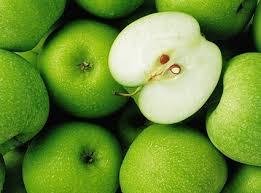 green apple fruit tree. green apple background stock photo fruit tree