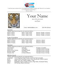 Example Child Actor Resume Acting Sample Freeemplates Resumesemplate