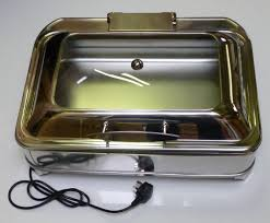 display electric chafing dish oblong gn 1 1 size soft close lid