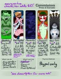 commission sheet commission sheet 1 3 by gregarity on deviantart