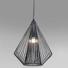 polygon black pear wire ceiling light image 4