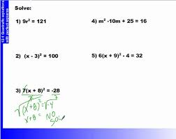 12 1 how to solve quadratic equations with perfect squares