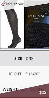 Lane Bryant Shoe Size Chart Lane Brant Plus Size Black Gold Metallic Tights Lane Brant