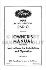 1941 ford radio 1941 ford radio owners manual and installation guide 41 includes wiring diagram