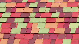colorful roof tiles background