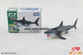 โมเดลปลาฉลามขาว (Great White Shark) แบรนด์ Takara Tomy ขนาดยาวประมาณ 7.5 ซม  - WELOVEHOBBY : โมเดล ฟิกเกอร์ ของเล่น ของสะสม : Inspired by LnwShop.com