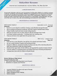 Babysitter Resume Example Gorgeous Babysitting Resumes Picture Babysitting Resume Example Examples Of