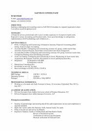 Sap Fico Resume Sample Best of SAP FICO Fresher ResumeCV Free Download Now Resume Samples