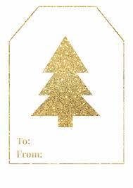 Free Printable Favor Tags Gold Christmas Tree Free Printable Gift Tag Happy Holidays