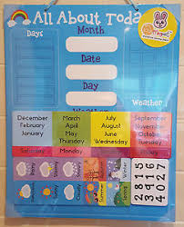 Details About Boys Girls Kids Childrens Educational Learning Magnetic Calendar Reward Chart