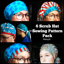 Scrub Cap Pattern Extraordinary Scrub Hat Sewing Pattern DIY Scrub Cap Sewing Tutorial Etsy
