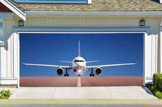 3d effect plane airplane garage door covers banners outside house art decor gd84 decalhouse garage