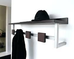 Wall Mounted Coat Rack With Hooks And Shelf Amazing Wall Coat Hanger With Shelf Wall Hanging Coat Rack Shelf