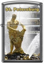 <b>Зажигалка ZIPPO Петергоф</b> St. Petersburg, Gray Dusk цена 3 210 ...