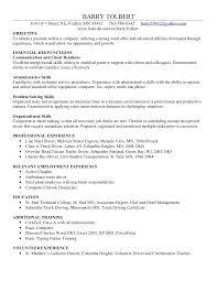 Resume Examples Of Skills And Abilities Resume Organizational Skills