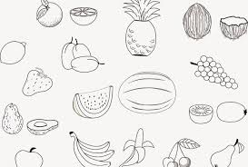 New Fruit Vegetable Coloring Pages Collection Printable Coloring Sheet