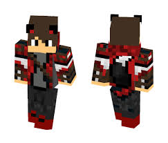 red wolf boy male minecraft skins image 1