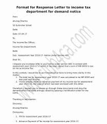 Formal Covering Letter Format Letter Format To Income Tax Department For Demand Notice