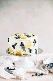 Lemon Blueberry Cake With Lemon Buttercream College Housewife
