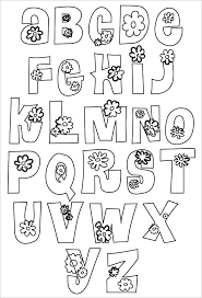 Flower Bubble Letters Free Set 1