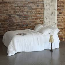 Stonewashed bed linen is a result ...