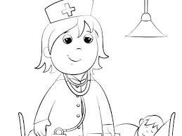 Nurse Coloring Pages Male Nurse Coloring Page Book Kids Pages Online