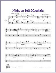 This page contains many piano sheet music ranging from children easy songs such as bingo, hot cross buns, frere jacques piano , to familiar folk songs and. Night On Bald Mountain From Fantasia Mussorgsky Free Easy Piano Sheet Music Pdf A Photo On Flickriver