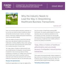 Business Brief Example Caqh Core Issue Brief
