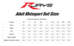 Kart Suit Size Chart Race Suit Rjays Chicane Suit