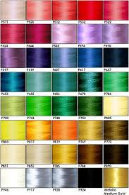 Polystar Thread Color Chart Embroidery Thread Colors Names Free Embroidery Patterns