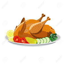 plate of food with chicken clipart. Contemporary Chicken Roasted Chicken With Vegetables On The Plate Stock Vector  73030554 To Plate Of Food With Chicken Clipart K