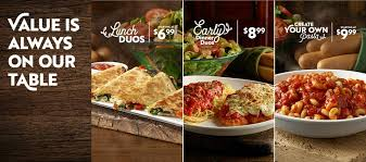 value is always on our table at olive garden learn more