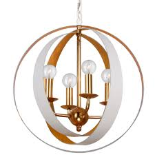 4 light matte white antique gold industrial mini chandelier