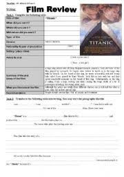 english teaching worksheets film reviews english worksheets writing film review