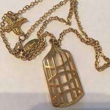 Jami Jewelry   Jami Bird Cage Pendant Necklace   Poshmark