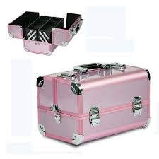 latest fashion high quality aluminum finished silver metal framed professional pink makeup brush case