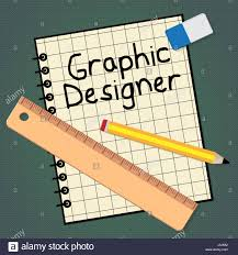 Designer 3d Job Graphic Designer Notebook Represents Designing Job 3d