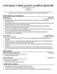awesome collection of sample contract specialist resume about format - Contract  Specialist Resume Sample